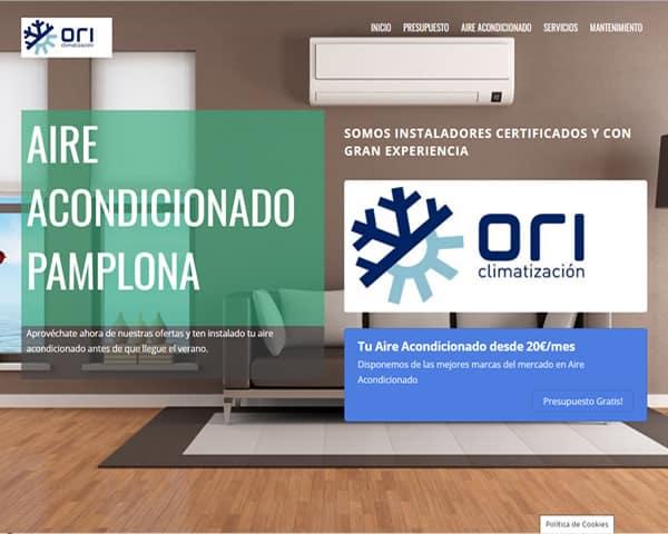 Aire acondicionado Pamplona clientes web