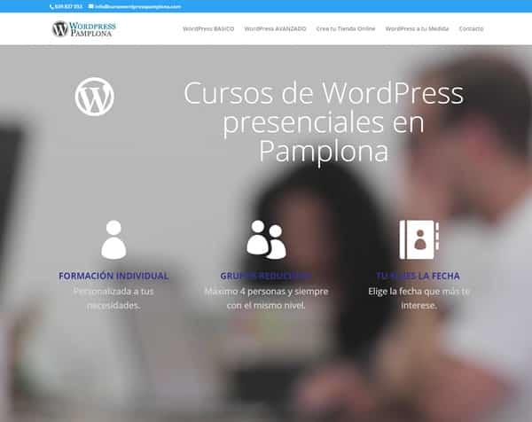 Curso presencial de WordPress en Pamplona y Navarra