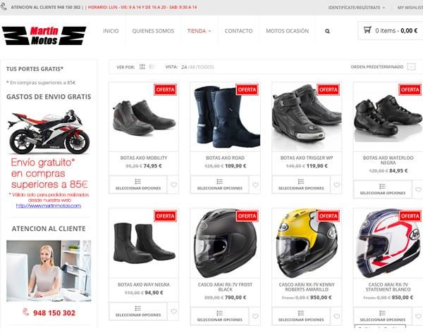 cliente tienda online martin motos