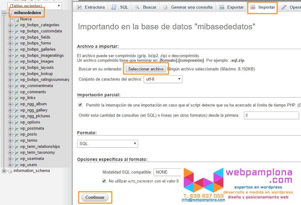 importar-base-datos-wordpress
