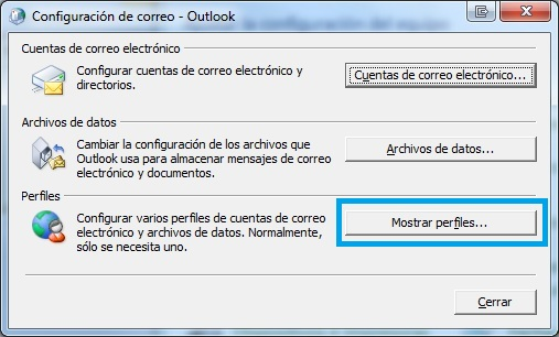 configuracion outlook